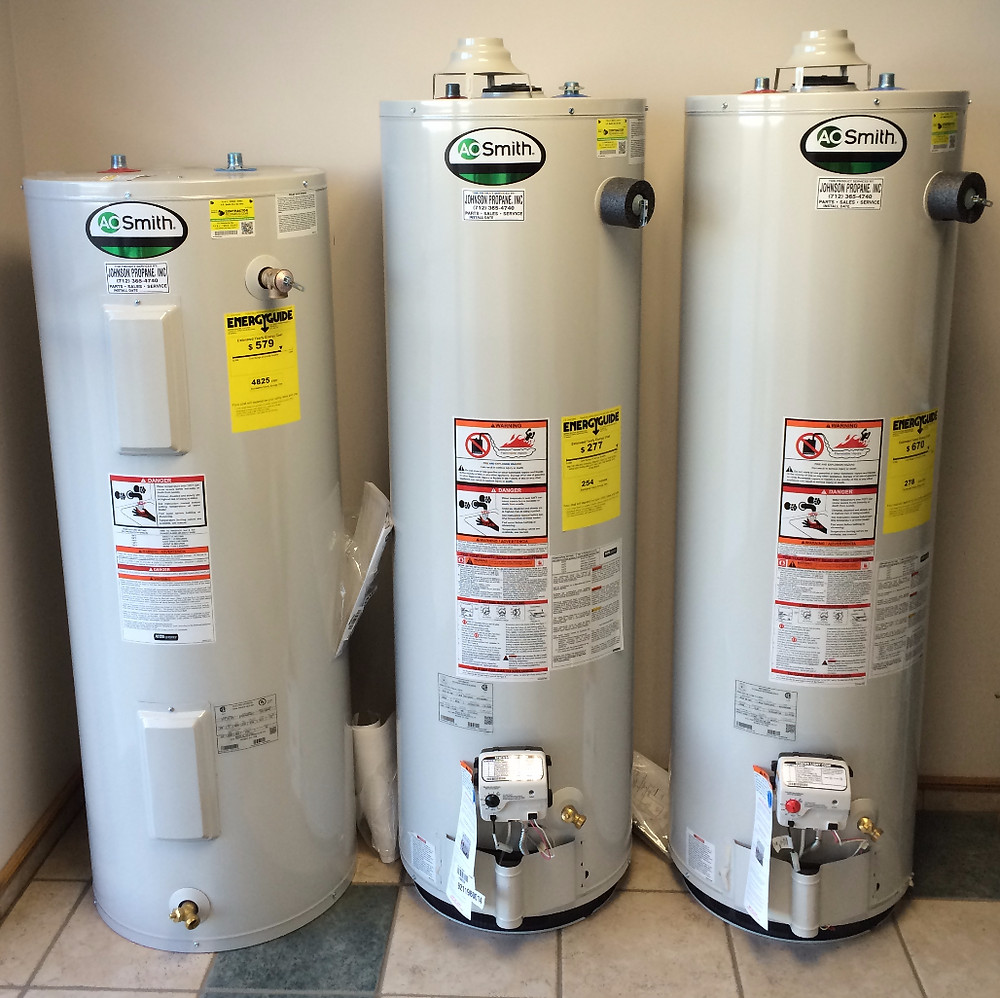 Johnson Propane Heating and Cooling Water Heaters
