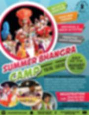 Summer Bhangra Camp Poster