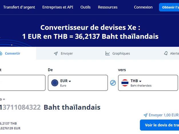 Convertisseur Euro/Thb