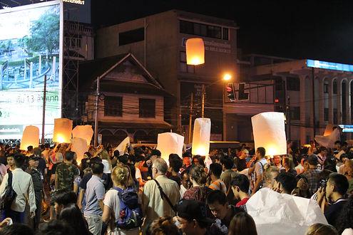 Yi Ping Festival, Chiang Mai, Thaïlande