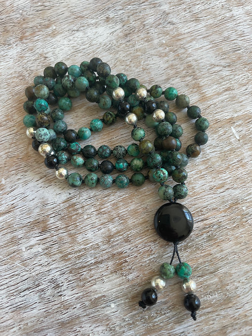 African Turquoise & Black Onyx