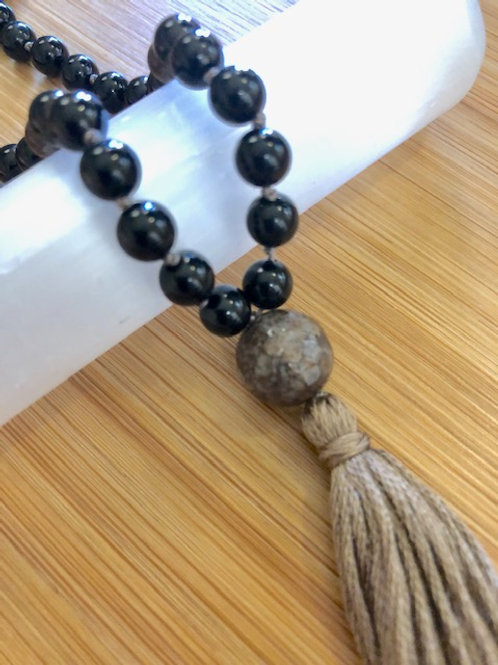 Grounding and Protection Mala Necklace
