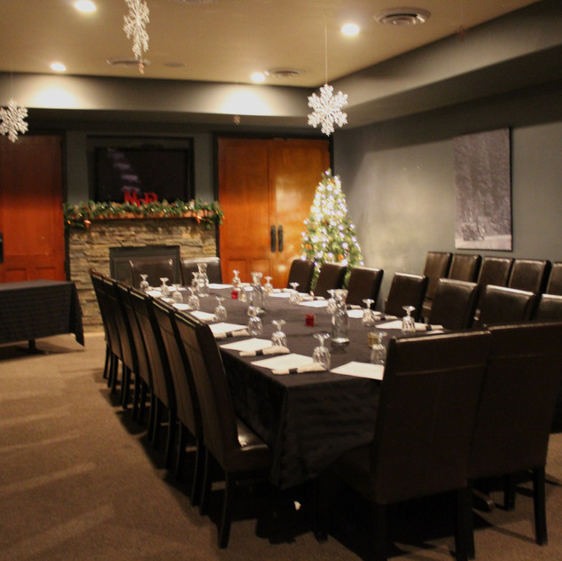 Banquet Room for Holiday Party