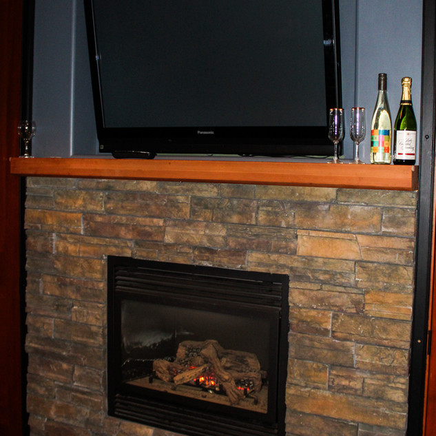 The Fireplace & TV