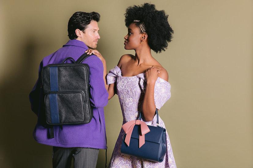 Jared - Grey Vegan Leather Men's Backpack