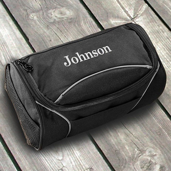 Personalized Canvas Toiletry Bag - Shaving Kit
