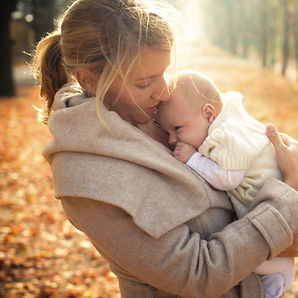 mother and infant ina warm embrace