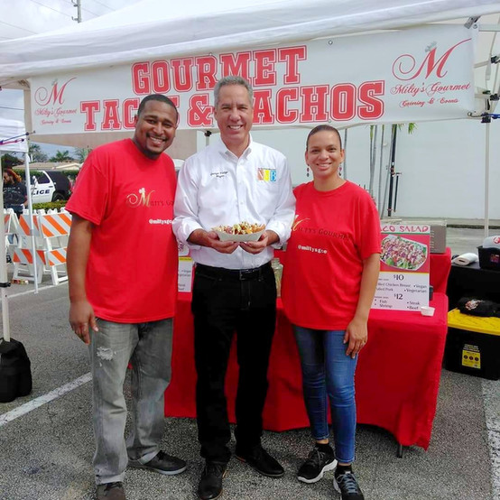 Co-Owners Milton & Sara with the North Miami Beach Mayor!