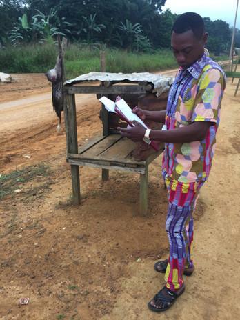 Conducting bushmeat village transects