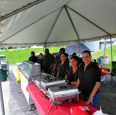 Catering at the Bob Marley Kaya Fest