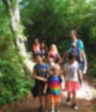 Kids and Family hiking during Discovery Play Days