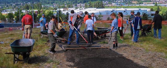 Trail adoption volunteer group doing routine maintenance