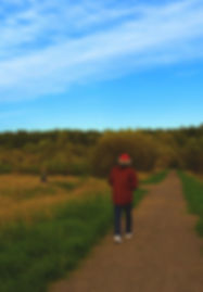 Man hiking on Clear Creek Trail