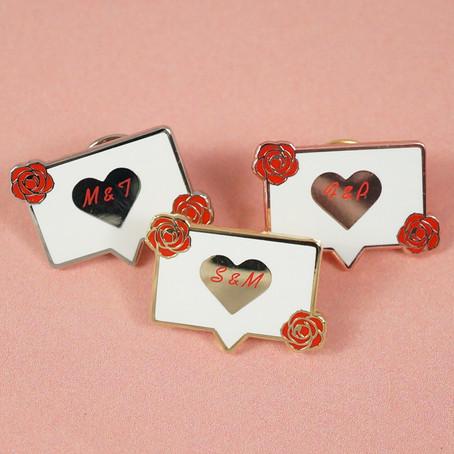 Hochzeits-Pins aus Hart-Emaille