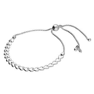 Silver sweetheart slider bracelet