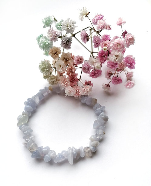 Blue Lace Agate stretch bracelet
