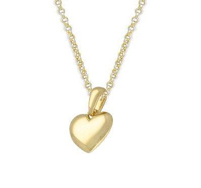 Silver & gold vermeil heart necklace