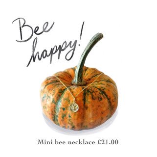Mini bee gold vermeil necklace
