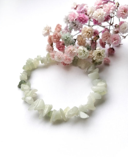 New Jade stretch bracelet