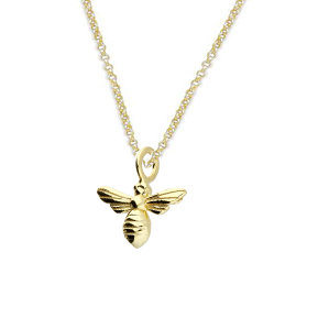 Silver & gold vermeil bee necklace