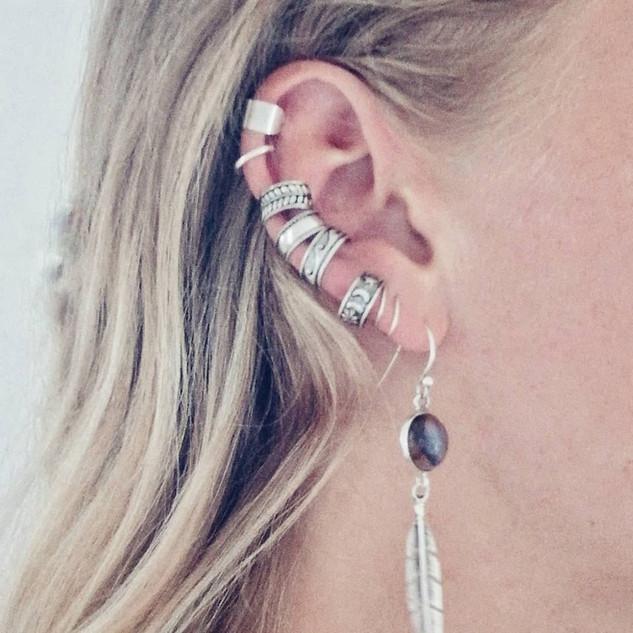 Silver Ear cuffs.