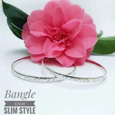 Cornish love bangle, slim style  £79.90