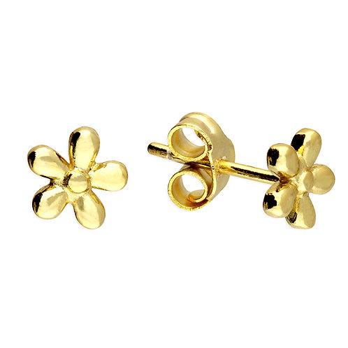 Silver & gold vermeil 5 petal daisy studs