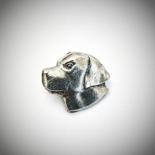 Dog head lapel pin