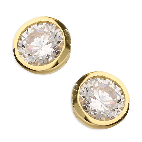 Silver & gold vermeil small crystal studs