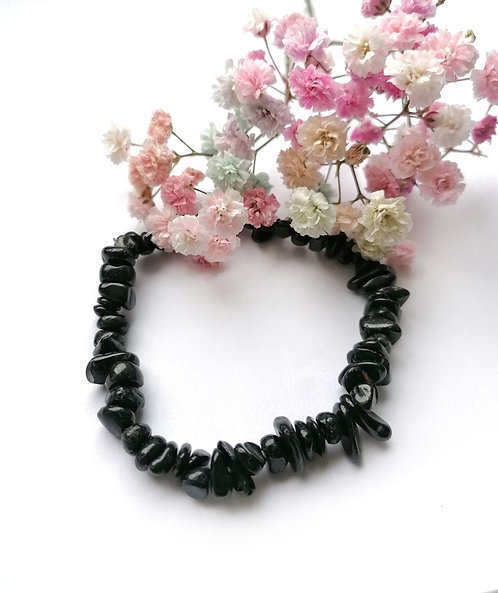 Black tourmaline stretch bracelet