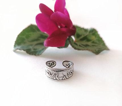 Silver elephant Toe ring