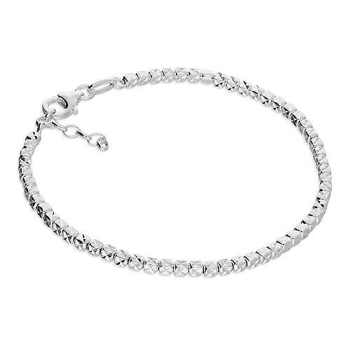 Silver textured cube bracelet