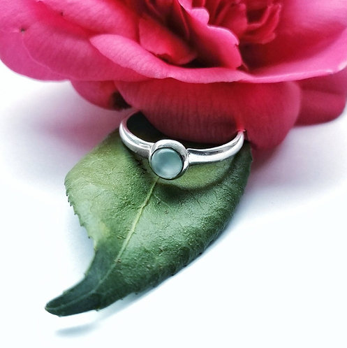 Silver & chalcedony ring - Size S