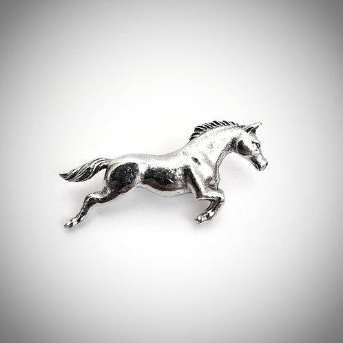 Galloping horse lapel pin