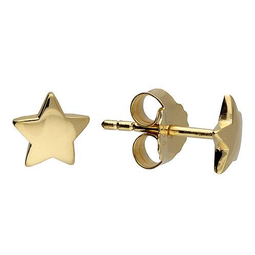Silver & gold vermeil star studs