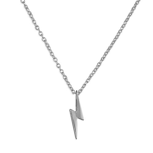 Silver lightening necklace