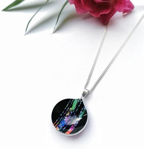 Silver & aluminium detail necklace