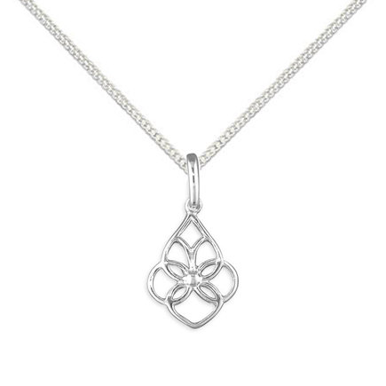 Silver pattern necklace