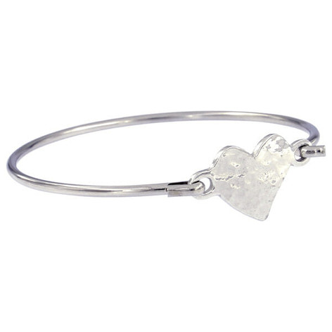 Heart clip bangle £16.25