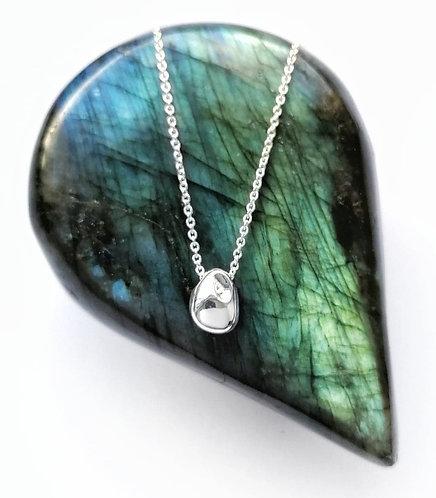Silver contemporary necklace
