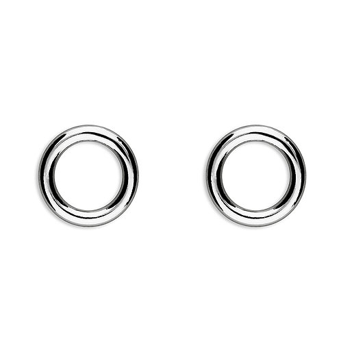 Silver simple circle studs