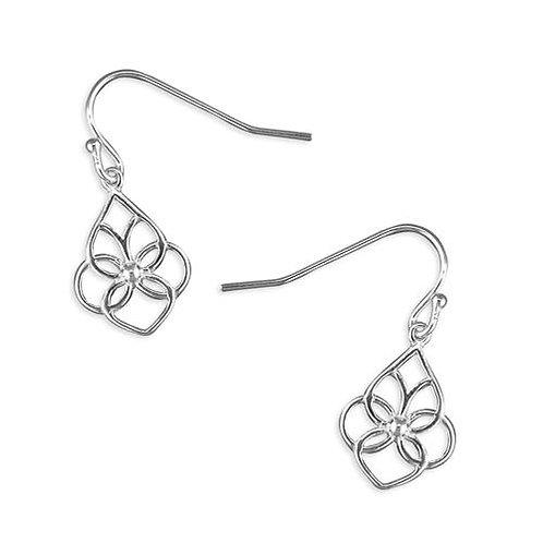 Silver pattern earrings