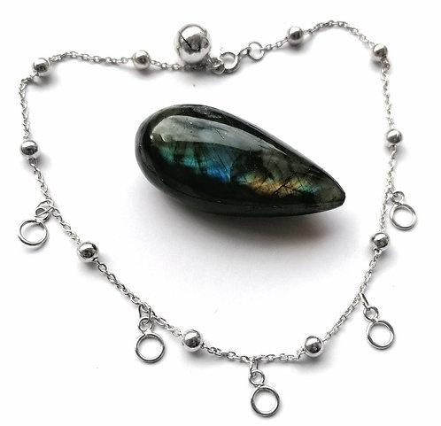 Silver loop & bell anklet