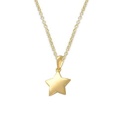 Silver & gold vermeil star necklace