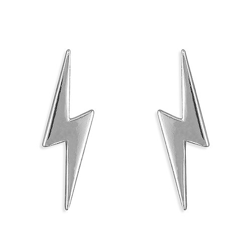 Silver lightening studs