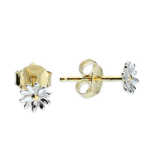 Silver & gold vermeil daisy studs