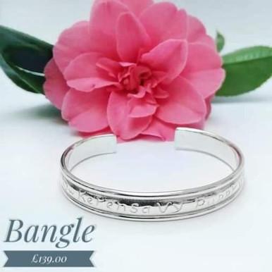 Cornish love bangle, Torc style  £139.00