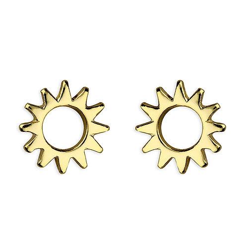 Silver & gold vermeil sun studs