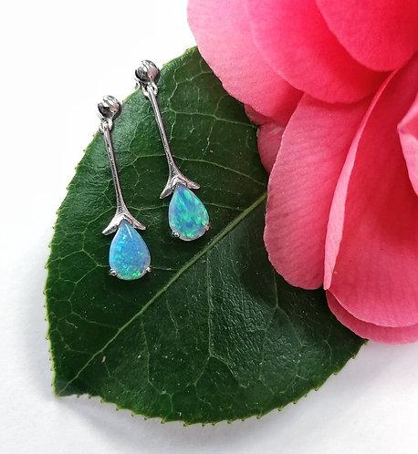 Silver & Opalite elegant earrings