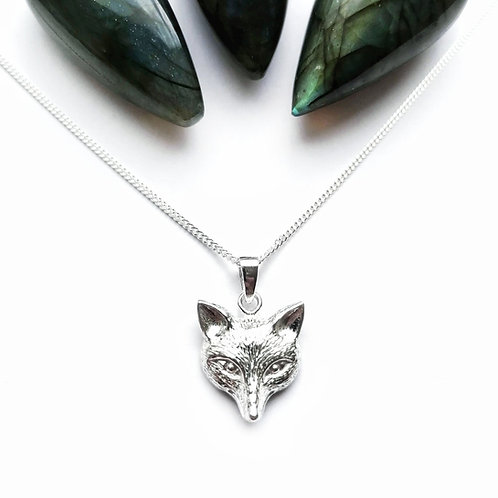 Silver fox necklace